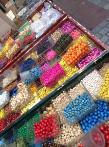 These pretty beads are sold at Marche Dauphine
