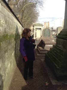 Joan at Montparnasse cemetery