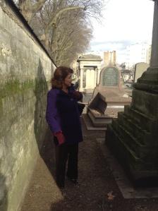 Joan at Montparnasse cemetery