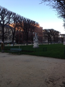 A garden near and adjacent to Luxembourg Gardens.