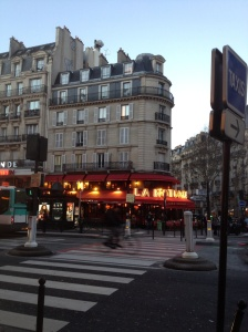 At the intersection of Raspail and Montparnasse. We walk past this to and from school.