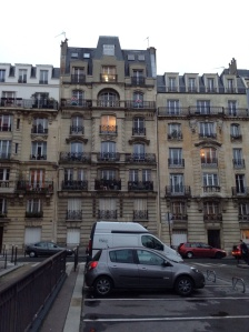 This is our apartment building on Rue Charles d'Ivry