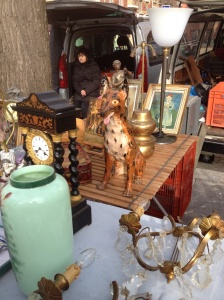 This tacky dog at the Vanves flea market made me homesick for Jersey.