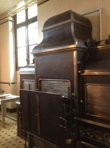 This kitchen is the way it was left when Beatrice Camondo was taken with her two children to Auschwitz.