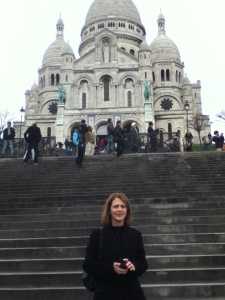 View from the bottom of Montmartre looking at Sacre Coeur