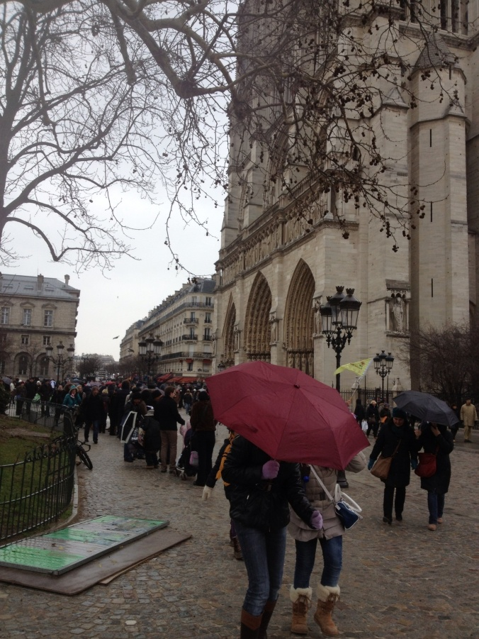 A rainy Sunday at Notre Dame.