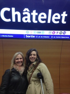 "Chatelet is officially the ""World's Largest Metro Station"". We drug Abby threw it twice."