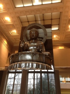 Giant Buddha at the Cernuschi museum.