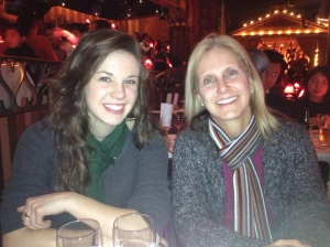 Abby and Janet inside the Moulin Rouge