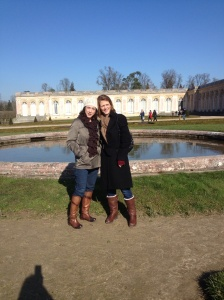 Joan and Alison at the Grand Trianon, Versailles