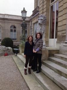 Before entering the Jacquemart-Andre museum.