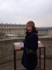 Joan at Chateau de Vincennes.