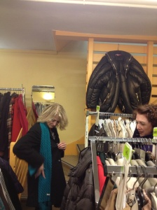 Marsha and Joan at Réplublique, a consignment store we love.