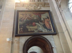 Delacroix paintings in the St Paul church.