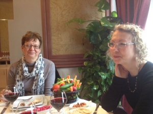 Linda and her friend, Carole, at Assanabel restaurant.