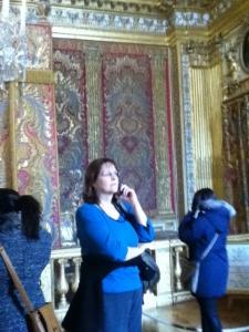 Inside Versailles.