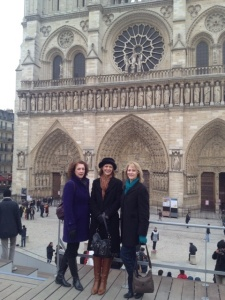 Joan, Alison and Marsha at Notre Dame.