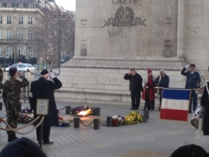 Laying of the wreath at Arc de Triomphe.