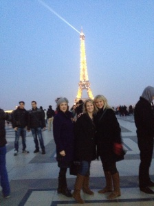 "This is Joan, Marsha and Barb at the top of the hour at the Eiffel Tower when ""oohs and aahs"" abound."