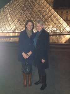 Me and Barb after we had dinner with her friend, Brittany. We ate at Marly, a cool restaurant with a view of the Louvre.