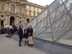 Leaving the Louvre.