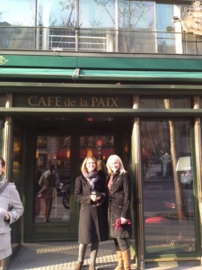 Me and Bar outside Cafe de la Paix.