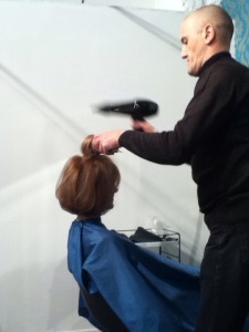 This is Denis working on my Wicked Cowlick.