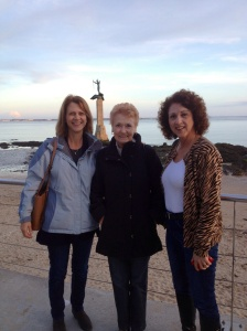 Alison, Claudine and Joan at St Nazaire.