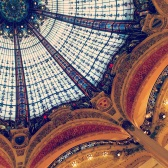 Galleries Lafayette ceiling (Mairi's pic)