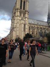 Notre Dame on a sunny Sunday