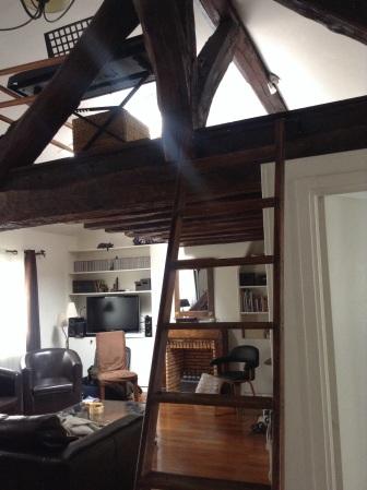 Upstairs is Rebekah and Larry's sleeping loft