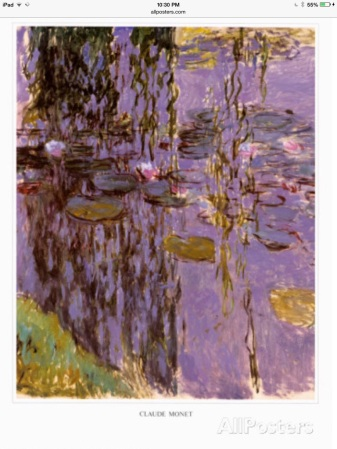 Monet's painting of water lillies