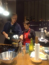 David making ganache