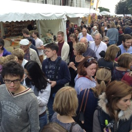 Crowds were thick at the wine fest