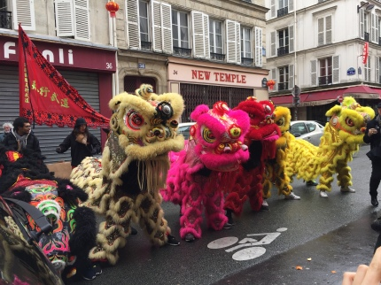 The Chinese New Year parade was cancelled due to rain but these guys stopped for photos.