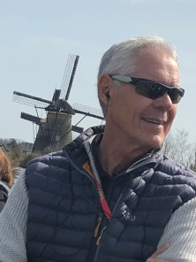 David with Windmill in His Neck, Kinderdijk 2018