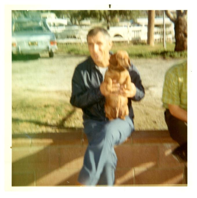 My Dad and Ginger, California circa 1970
