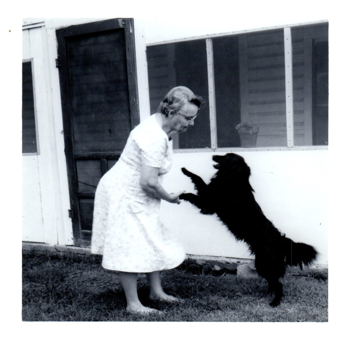 Grandma Nellie with Midnight