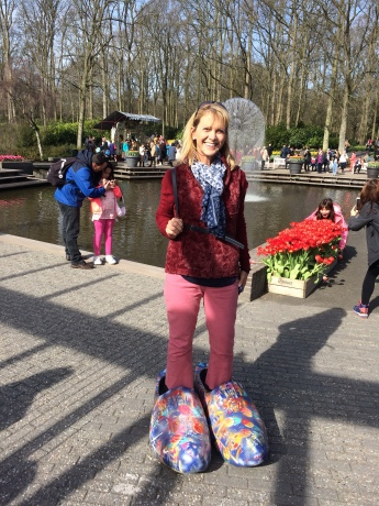 Alison in Shoes Too Big to Fill, Keukenhof, April 2018