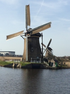 Close up of Kinderdijk Windmills