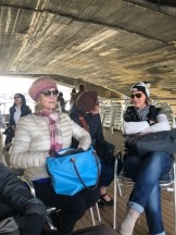 On a boat on the Seine